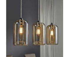 Design Hängeleuchte in Braun Glas