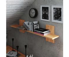 Wandboard aus Kernbuche Massivholz 120 cm