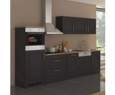 Komplett Küche in Grau Sonoma Eiche E-Geräte (12-teilig)
