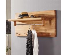 Wandgarderobe aus Wildeiche Massivholz 30 cm hoch