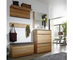 Garderobenmöbel Set aus Kernbuche Massivholz mit Schuhschrank (5-teilig)
