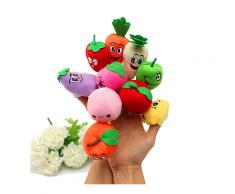 10 Stk Plüsch Fingerpuppen Puppe Obst Gemüse Satz Baby Spielzeug-Kuscheltier