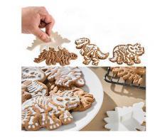 3 nbsp;Teile nbsp;/ nbsp;satz nbsp;Nette nbsp;Dinosaurier Geformte Ausstechformen Werkzeuge Küche Backformen Dekoratives Werkzeug Backform-Ausstecher für Kuchen Cookie