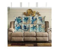 Honana nbsp;45x45cm nbsp;Home nbsp;Decoration nbsp;Blau nbsp;Meer Tier gedruckt 7 Optional Muster Baumwolle Leinen Kissenbezüge Sofa Kissenbezug-Kissen Kissenbezug