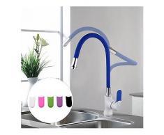 FRAP F4034 Multi-Farbe-Küchenarmatur Silica Gel Nose Jede Richtung Kalt-und Warmwasser-Mixer Weiß -Küche-Wasserhahn