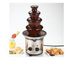 4 Tiers Mini Edelstahl Schokolade Fondue Brunnen Wasserfall Schmelzmaschine Küchengerät-Food Processors