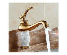 WANFAN nbsp;7301K nbsp;Home nbsp;Badezimmer nbsp;Luxuriöser nbsp;Gold Diamond Cystal Einhand-Warm- und Kaltwasserbecken-Wasserhahn-Badezimmer-Wasserhahn