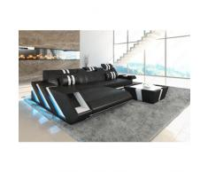 Leder Sofa APOLLONIA L Form LED