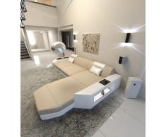 Sofa Prato in Stoff als L Form Ecksofa auch mit Bettfunktion