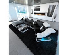 Luxus Wohnlandschaft TURINO C-Form mit LED Beleuchtung