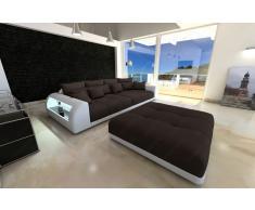 Modernes Bigsofa Miami mit Hocker und Beleuchtung