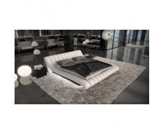 Design Komplettbett FERRARA LED + Matratze + Lattenrost