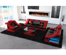 Designer Sofa Garnitur Turino 3 Sitzer, 2 Sitzer Sofas und Sessel