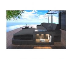 Rattansofa WAVE L-Form mit LED