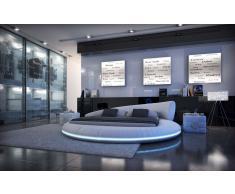 Design Rundbett Mezzo mit LED Beleuchtung 180 x 200 cm - 200 x 220 cm