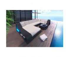 Poly Rattan Sofa TURINO LED