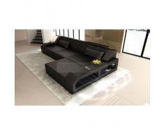 Sofa Arezzo L Form schwarz