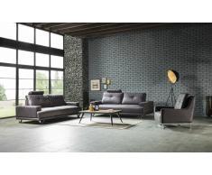 Polster Sitzgruppe Wuppertal mit Chesterfield Muster und verstellbaren Rückenlehnen
