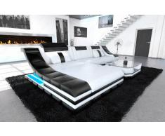 Sofa Turino in Leder als modernes L Form Ecksofa