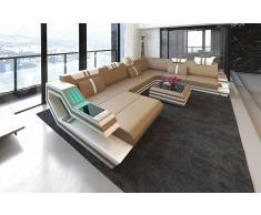 Designer Wohnlandschaft Ravenna in XXL auch mit Schlaffunktion