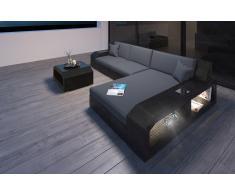 Designer Rattan Sofa Matera L Form mit Beleuchtung