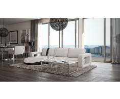 Design Sofa Florenz L in Leder mit Ottomane