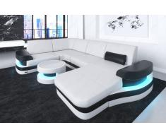 Sofa Wohnlandschaft Modena in Leder auch mit ausziehbaren Bett