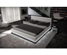 Wasserbett Moonlight weiss-schwarz mit sämtlicher Technik und Matratze 180 x 200 cm - 200 x 200 cm - 200 x 220 cm