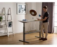 Schreibtisch weiss/grau 180 x 80 cm elektrisch höhenverstellbar UPLIFT