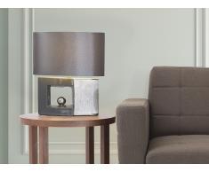 Tischlampe grau - Leselampe - Nachttischlampe - Tischleuchte - Beleuchtung - DUERO