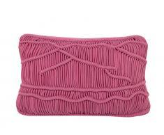 Dekokissen Strickmuster rosa 30 x 50 cm KIRIS