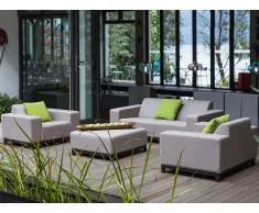 In- und Outdoor Loungemöbel - Gartenlounge - Gartenmöbel - Gartensofa - Beige - ROVIGO