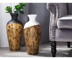 Dekovase weiss/heller Holzfarbton BONA