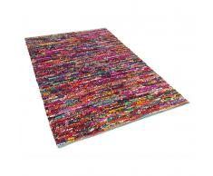 Teppich bunt 140 x 200 cm Hochflor BAFRA