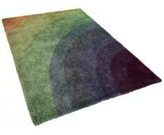Teppich Regenbogenfarben 300 x 400 cm Hochflor BURSA