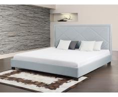 Bett Hellblau - Doppelbett 180x200 cm - Ehebett - Polsterbett - MARSEILLE