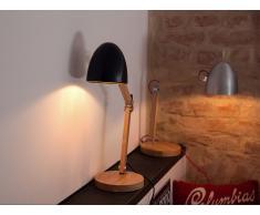 Tischlampe Schwarz - Tischleuchte - Nachttischlampe - Leselampe - Beleuchtung - VELEKA