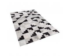 Teppich Leder schwarz/grau 140 x 200 cm EFIRLI