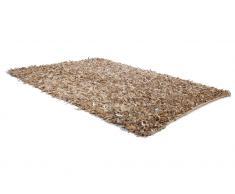 Teppich beige 80 x 150 cm Leder MUT