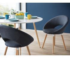 Stuhl Dunkelblau - Sessel - Esszimmerstuhl - Küchenstuhl - Polsterstuhl - ROSLYN