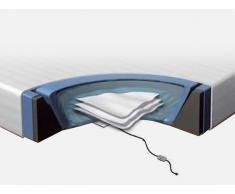 Wasserbett Matratze Set 160x200 cm - mit 2 Heizungen - Schaumstoffrahmen - Überzug
