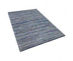 Teppich blau 160 x 230 cm Kurzflor ALANYA