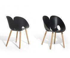 Stuhl schwarz - Esszimmerstuhl - Schalenstuhl - Essstuhl - MEMPHIS