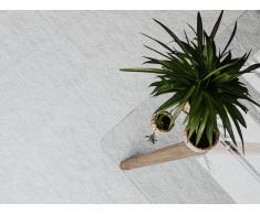 Teppich weiss 80 x 150 cm Shaggy DEMRE