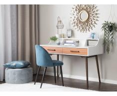 Schreibtisch weiss/braun 120 x 58 cm ALLOA