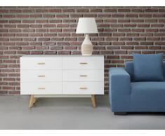 Sideboard weiss - Kommode - Regal - Schrank - Wohnzimmerschrank - NEWARK