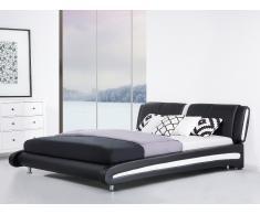 Lederbett schwarz Lattenrost 180 x 200 cm MADRID