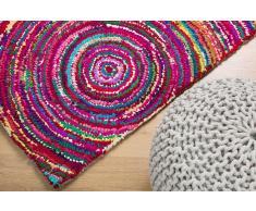 Teppich bunt 80 x 150 cm Hochflor KOZAN