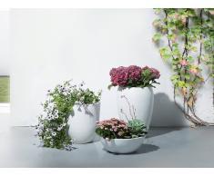 Blumenkübel weiss rund 46 x 46 x 67 cm NESS
