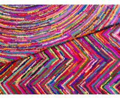 Teppich Bunt - Baumwolle - Polyester - Shaggy - Läufer - 140x200 cm - KARASU